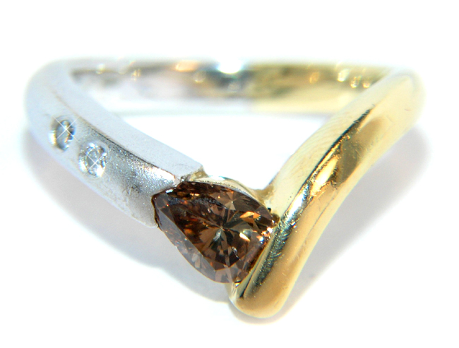 ... about DESIGNER Diamant 750 Goldring Verlobungsring Ehering RING GOLD